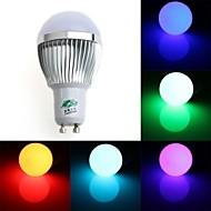 Ampoules Globe Gradable/Commandée à Distance/Décorative RGB Zweihnde Sol GU10 3 W 1 Dip LED 200-250 LM K AC 85-265 V