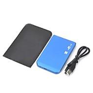 """Ultra-Slim Aluminum Alloy 2.5"""" HDD Enclosure - Blue"""