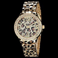Mulheres Relógio de Moda Quartz Lega Banda Leopardo Dourada / Ouro Rose marca-