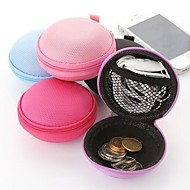 Candy-colored Multifunction Circular Headphone Jewelry Change Storage Boxes(Random Color)
