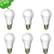 6 pcs DUXLITE E26/E27 9 W 1 COB 820 LM Warm White A Dimmable Globe Bulbs AC 220-240 V