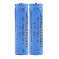shuangdi® sd 3.7v 3800mAh 18650 batterie au lithium-ion rechargeable (x2)