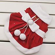 Pisici / Câini Costume / Rochii Roșu Îmbrăcăminte Câini Iarnă Nod Papion Cosplay / Crăciun / Anul Nou