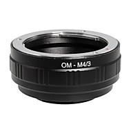 poplar® om-m4 / 3 lentilles olympus à panasonic / olympus m4 / 3 caméra bague d'adaptation (noir)