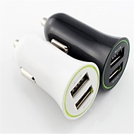 1a / 2.1a dual usb auto-oplader voor iPhone 6/6 plus / ipad en anderen (assorti kleur)