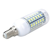 E14 10W 1000LM 6500K/3000K 56-5730 SMD Warm/Cool White Light LED Corn Bulb (AC 220~240V)