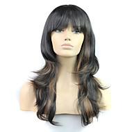 24 Inch 100% High Temperature Fiber Synthetic Female Elegant Fashion Celebrity Long Wave Wig