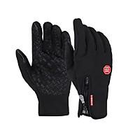 gants de vélo / gants d'hiver pour hommes polaire chaude pleine vélo de doigt mitaines gel de vélos tactiles hiver imperméable à l'eau