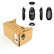 Google Cardboard DIY Virtual Reality 3D Glasses + Multi-function BHT Controller for iPhone / Nexus 6 & Samsung Phones