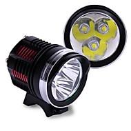 3x cree xml ledde l2 5800lm cykelcykel ljus med pannband drivs med 18.650 batterier