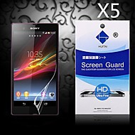 HD Screen Protector with Dust-Absorber for Sony Xperia Z/L36h (5 PCS)