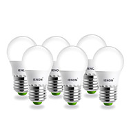 3W E26/E27 LED Globe Bulbs G60 SMD 240-270 lm Warm White AC 100-240 V 6 pcs