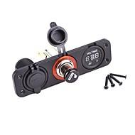 Dual Usb Adapter Lader Digital Voltmeter Stikkontakter