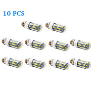 10 pcs E26/E27 12 W 56 SMD 5730 1200 LM Warm White / Cool White Corn Bulbs AC 220-240 V