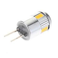 3W G4 LED-kohdevalaisimet 6 SMD 5730 220 lm Lämmin valkoinen / Kylmä valkoinen AC 12 V 10 kpl