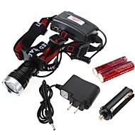 Beleuchtung Stirnlampen LED 1200 Lumen Modus Cree XM-L T6 18650 / AAA Wasserdicht / Wiederaufladbar / Stoßfest / Notfall / Schlag-Fassung