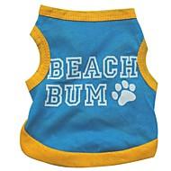ผ้าฝ้ายที่น่ารักหาดทรายเสื้อกั๊กสำหรับสุนัข (ขนาดสารพันสีฟ้า)
