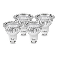 4 pcs IENON® GU10 5 W COB 400-450 LM Warm White MR16 LED Spotlight AC 100-240 V