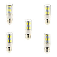 7W E26/E27 LED Corn Lights 69 SMD 5730 600 lm Natural White AC 220-240 V 5 pcs