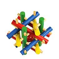 다채로운 나무 장난감 구슬 잠금을 해제하기 위해 퍼즐을 탈출