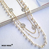 Necklace Strands Necklaces / Pearl Necklace Jewelry Party / Daily / Casual Fashion Pearl / Alloy Silver 1pc Gift