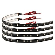 [10pcs / lot] 5W 30cm 15xsmd3528 blått LED lys stripe DIY ledet auto lampe for bilbruk (DC12V)