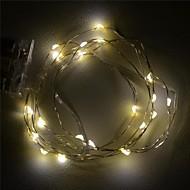[10pcs / lot] 2m 20xsmd Warmweiß Silberdraht LED-String-Licht für die Dekoration (DC 6V) [aa barterry ist nicht enthalten]
