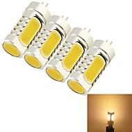 5W G4 LED-maissilamput T 4 COB 210 lm Lämmin valkoinen Koristeltu DC 12 / AC 12 V 4 kpl