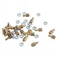 M3 x 5mm & 5 Copper DIY Binding Post Terminals (20 PCS)