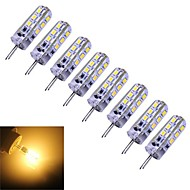 G4 1.5 W 24 SMD 3014 100-120 LM Warm White T Dimmable Corn Bulbs DC 12 V
