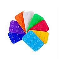 10PCS Sided Sucker Slip Mat Holder with Car for All iPhone (Random Color)
