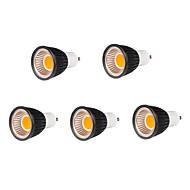 5pcs 7w GU10 500-550lm kjølig / varm hvit farge støtte dimmes ledet cob spot lys lampe pære (220V)