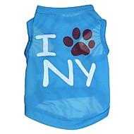 """Lovely """"I NY"""" Pattern Terylene Vest for Dogs (Assorted Sizes)"""