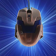 Transformers Q8 Wired Gaming Mouse 2000 DPI 6 Buttons Optical USB-Golden