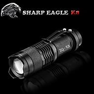 LED손전등 LED 모드 500LM 루멘 방수 / 충전식 / 충격 방지 / 슬립 방지 그립 / 스트라이크베젤 / 클립 / 작은 사이즈 / 주머니 Cree XR-E Q5 14500캠핑/등산/동굴탐험 / 일상용 / 사이클링 / 낚시 / 여행 /