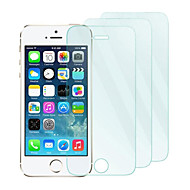 3pack 0.26mm herdet glass skjermbeskytter med mikrofiberklut for iphone 5 / 5s / 5c