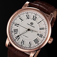 FORSINING® Men's Automatic Mechanical Classic Dial leather Band Wrist Watch (Assorted Colors)