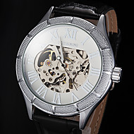 Men's Watch Automatic self-winding Skeleton Watch Hollow Engraving Leather Band
