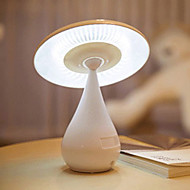 Fashion Mushroom 5W LED Air Purifier USB Rechargeable Protect Eyes Small Lamp 220V(White)