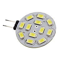2W G4 LED Spotlight 12 SMD 5730 180-210 lm Warm White / Cool White DC 12 V