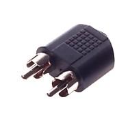 3,5 mm-gränssnitt hona till RCA * 2m adapterkontakt videoöverföring