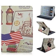 Retro American Flag 360 Degree Rotation PU Full Body Case with Stand for iPad Air