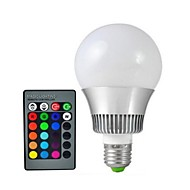 1pcs E27 15W 72LM 2800-3500/6000-6500K Color-Changing Remote-Controlled Globe Bulbs AC V