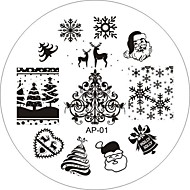 Nail Art Stamp Stamping Image Template Plate AP Series NO.1