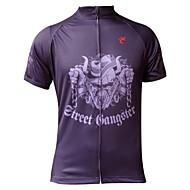 JESOCYCLING Ciclismo Blusas / Camisa Homens Moto Respirável / Resistente Raios Ultravioleta / Secagem Rápida Manga Curta Stretchy100%