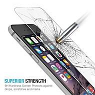 huyshe einfache Installation 0.33mm Anti-Fingerprint mit Reinigungstuch aus gehärtetem Glas Schirmschutz für iphone 6 Plus
