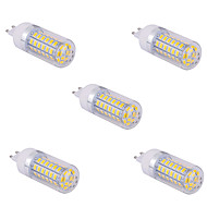 5 adet G9 15 ila 60 g x SMD 5730 1500 lm 2800-3200 / 6000-6500 k sıcak beyaz / açık beyaz mısır ampuller AC 110/220 V