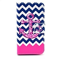 Wave Anchor Pattern Full Body Case with Stand for iPhone 4/4S