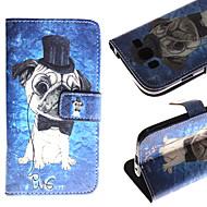 Mert Samsung Galaxy tok Pénztárca / Kártyatartó / Állvánnyal / Flip / Minta Case Teljes védelem Case Kutya Műbőr Samsung Grand Neo / Grand