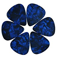 medium 0.71mm guitar picks plektre celluloid perle blå 100pcs-pack